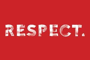 Texte indiquant le respect