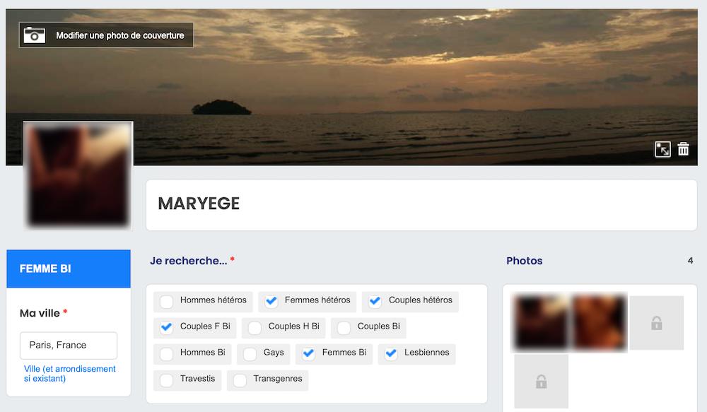 La base du profil sur Wyylde