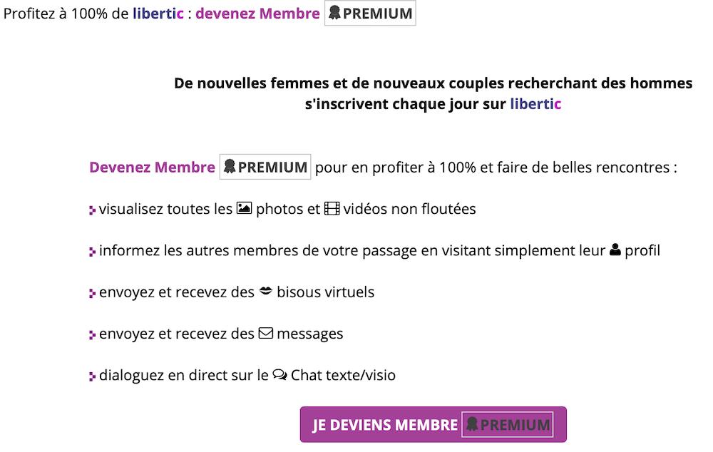 Description des avantages pour les membres